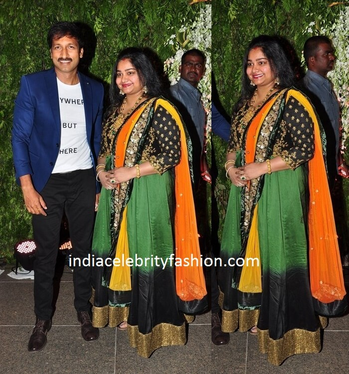 Gopichand and Reshma at Sreeja's Wedding Reception