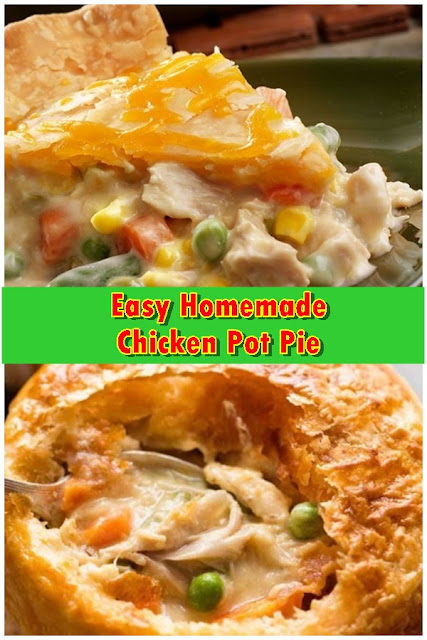 #Easy #Homemade #Chicken #Pot #Pie #crockpotrecipes #chickenbreastrecipes #easychickenrecipes #souprecipes