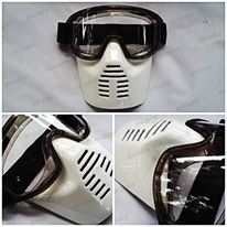 Goggle mask army white/trail/motocross