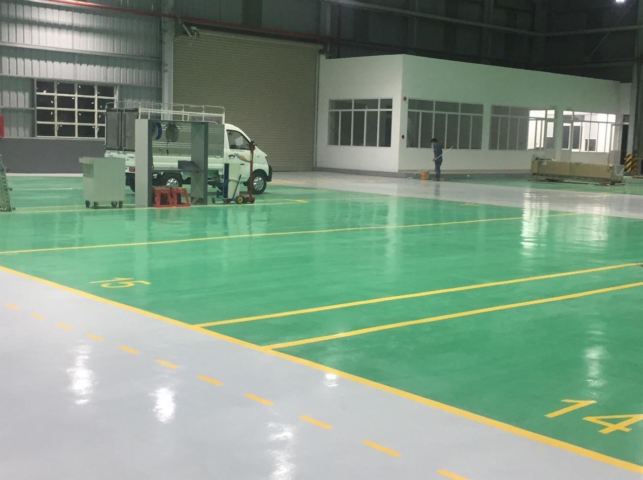 Sơn nền nhà xưởng bệnh viện trường học Gò Vấp TP.HCM