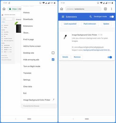 كيفية تثبيت إضافات جوجل كروم على الاندرويد مع Kiwi Browser