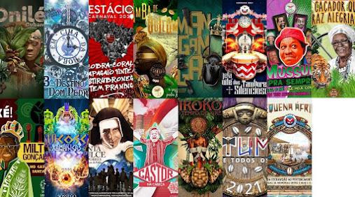 VOTE: Qual é o melhor enredo da Série Ouro do Carnaval Carioca 2021?