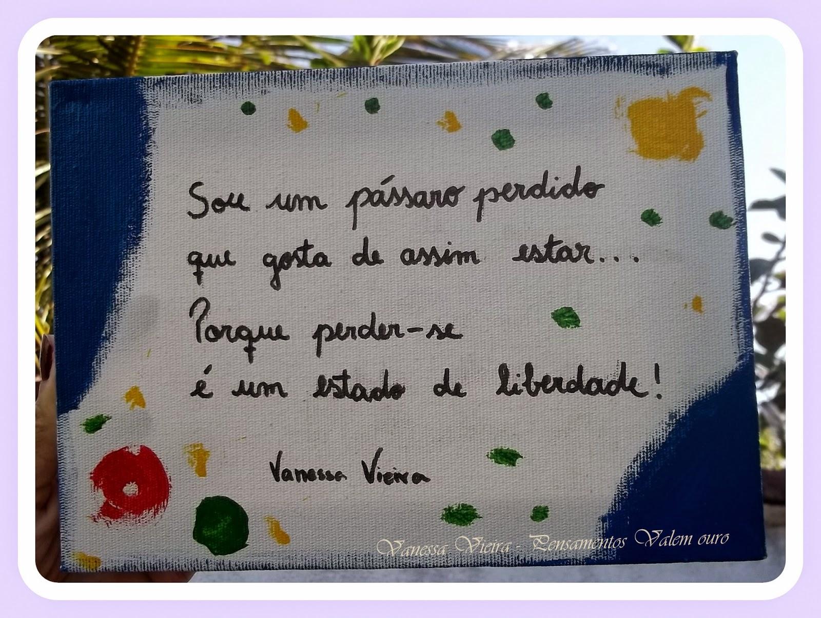 Quadro poema, pintura, Vanessa Vieira, pensamentos
