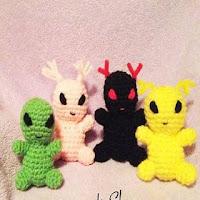 Once Upon A Crochet — Alien Pattern | Monstruos de ganchillo ... | 200x200