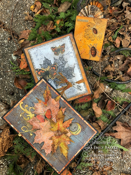Sara Emily Barker https://frillyandfunkie.blogspot.com/2019/10/saturday-showcase-stampers-anonymous.html Fall Card Saturday Showcase Pressed Foliage 1