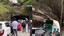 Truk Patah As Roda Di Terowongan Sumpang Labbu Sebabkan Macet Panjang