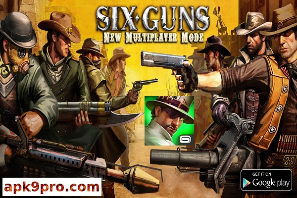 Six-Guns Gang Showdown v2.9.6c Apk + Mod + Data (File size 389 MB) for Android