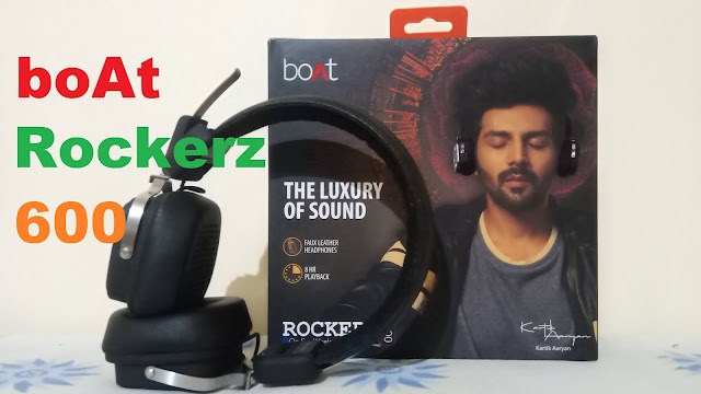 boAt Rockerz 600 Bluetooth Headphone with Luxurious Sound - Unboxing and Details