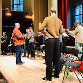 Purcell: King Arthur - Paul McCreesh & Gabrieli in rehearsal at St John's Smith Square (Photo Gabrieli)