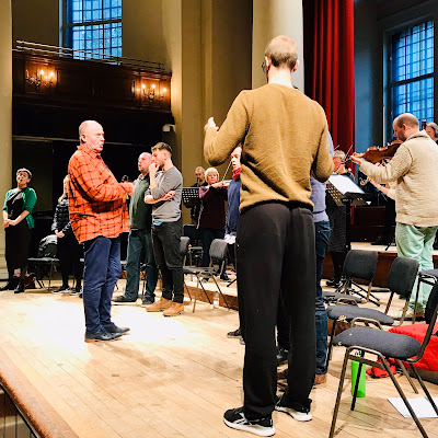 Purcell: King Arthur - Paul McCreesh & Gabrieli in rehearsal at St John's Smith Square (Photo Gabrieli)