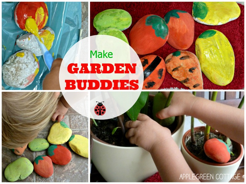 DIY garden buddies - stone markers