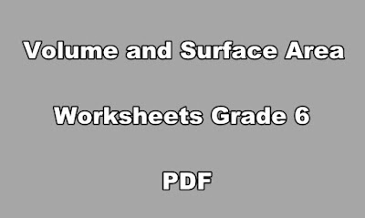 Volume and Surface Area Worksheets Grade 6 PDF.