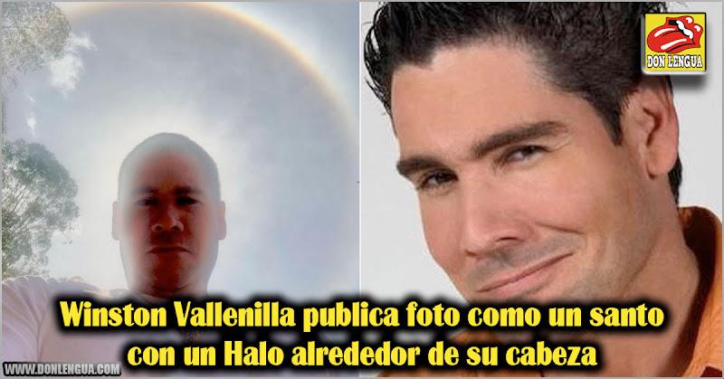 Winston Vallenilla publica foto como un santo con un Halo alrededor de su cabeza