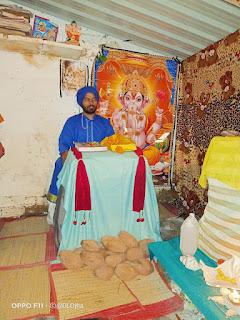 शिव मंदिर के पास गणेश महापुराण कथा का आयोजन