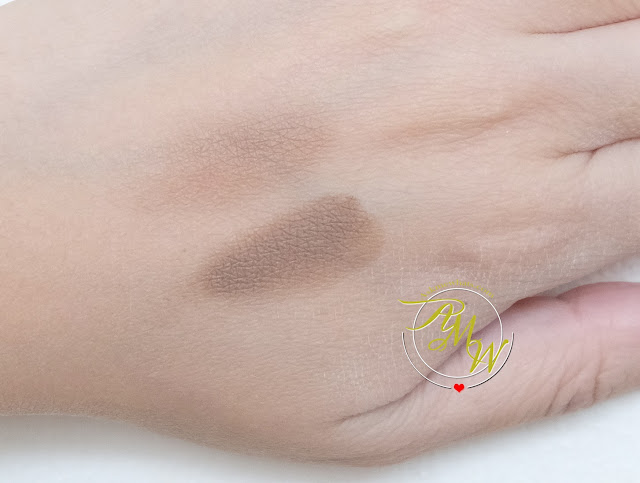 a swatch photo of Celeteque DermoCosmetics+ Eyebrow Defining KIT Review