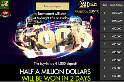 Win a share of HALF A MILLION this FRI -SAT only