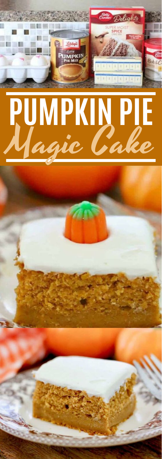 Pumpkin Pie Magic Cake #desserts #cake