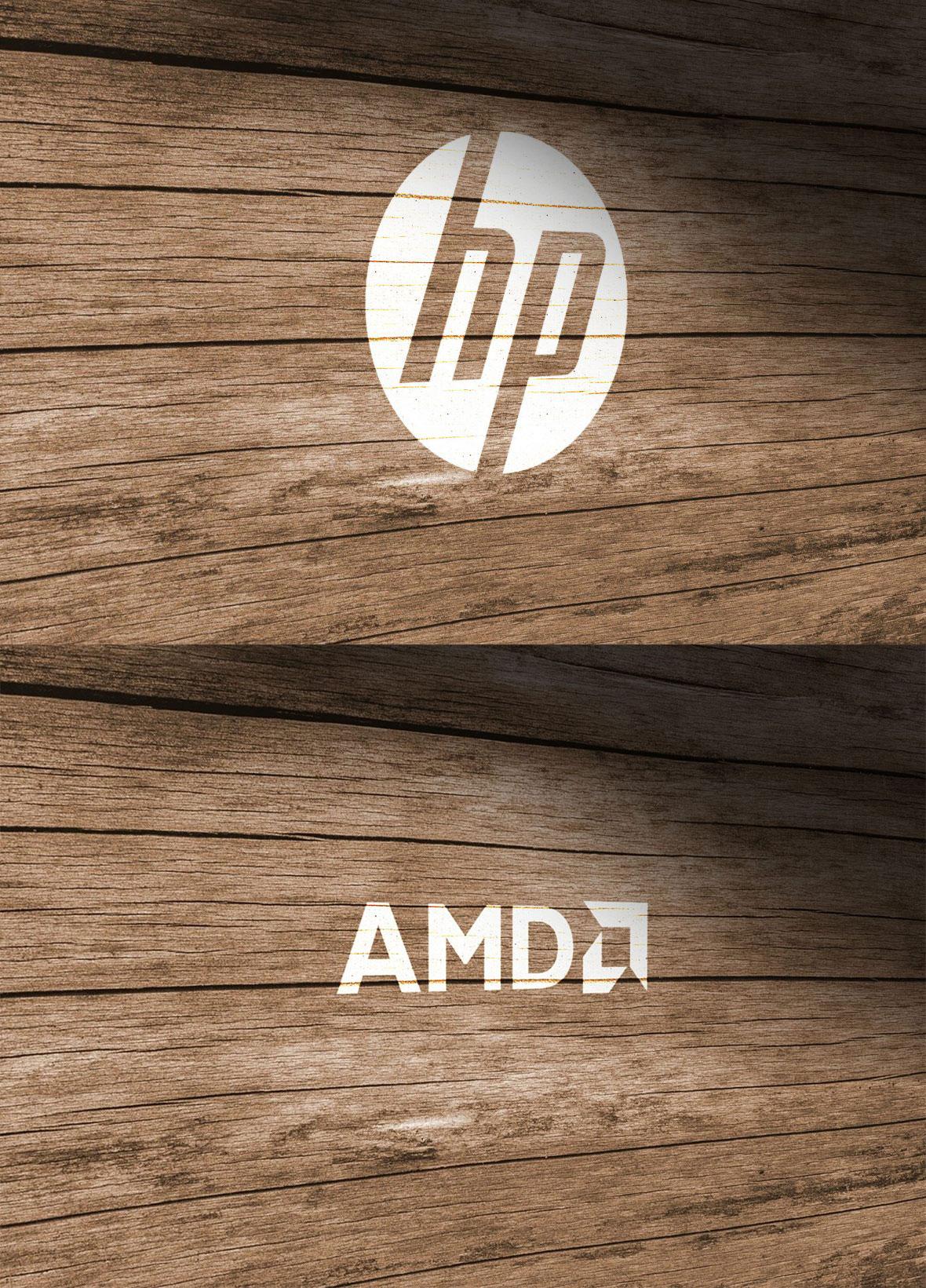 Wood Wall Logo Free PSD Mockup Download