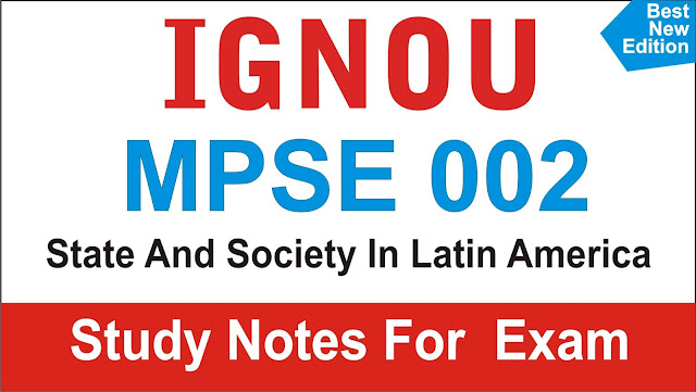 mpse 002; MPSE 002 State And Society In Latin America