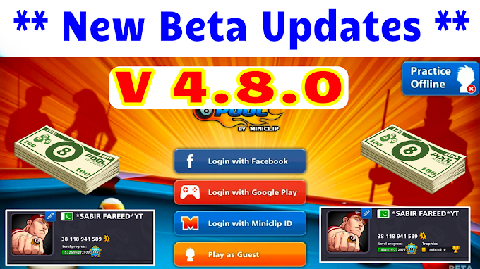 8 Ball Pool New Beta Update Version 4.8.0 || 19 March 2020