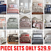 8 Piece Macy's Reversible Comforter Bedding Sets For All Bed Sizes $29.99 + Free Shipping