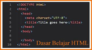Dasar dalam mempelajari HTML