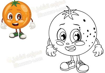 رسومات للتلوين فواكه وخضروات 4
