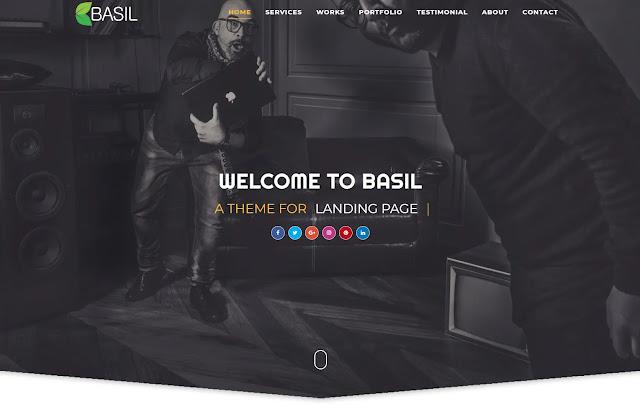 Basil Responsive Business Wedding Portfolio Landing Page Blogger Template Theme