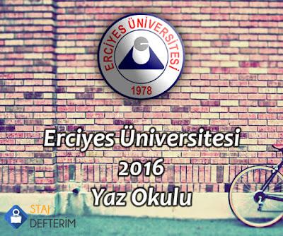 Erciyes Üniversitesi 2016 Yaz Okulu