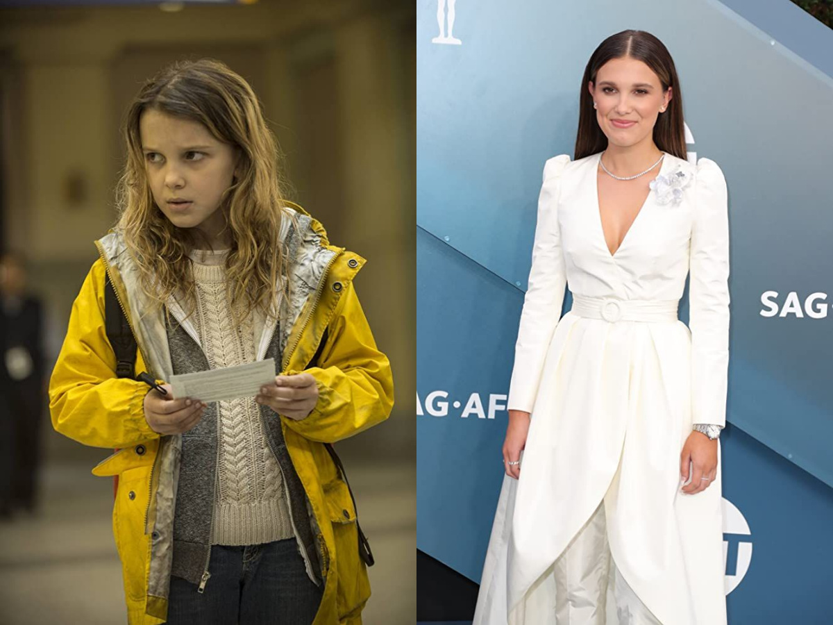 Millie Bobby Brown in 2014 and 2020