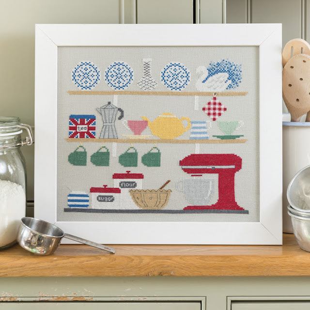 Retro Kitchen Design for The World of Cross Stitching Magazine