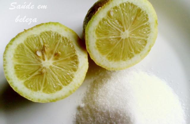 Esfoliante de Limão para  a pele