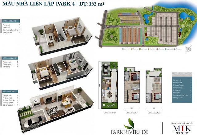 Mẫu Biệt thự - Nhà phố LL04 Park River Side quận 9 HCM