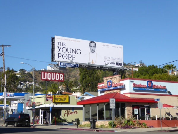 Young Pope limited series billboard