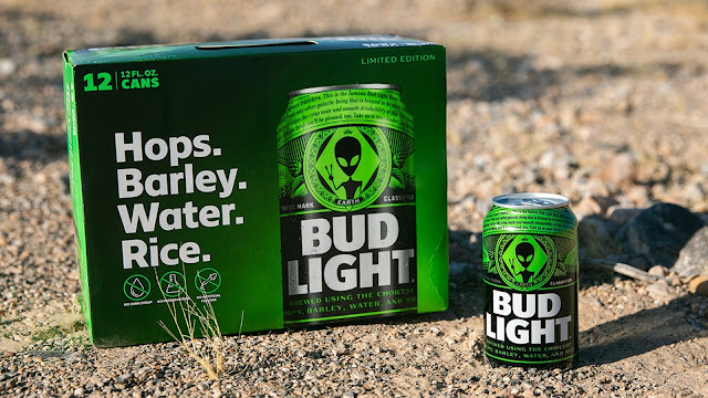 Alien-themed Bud Light cans
