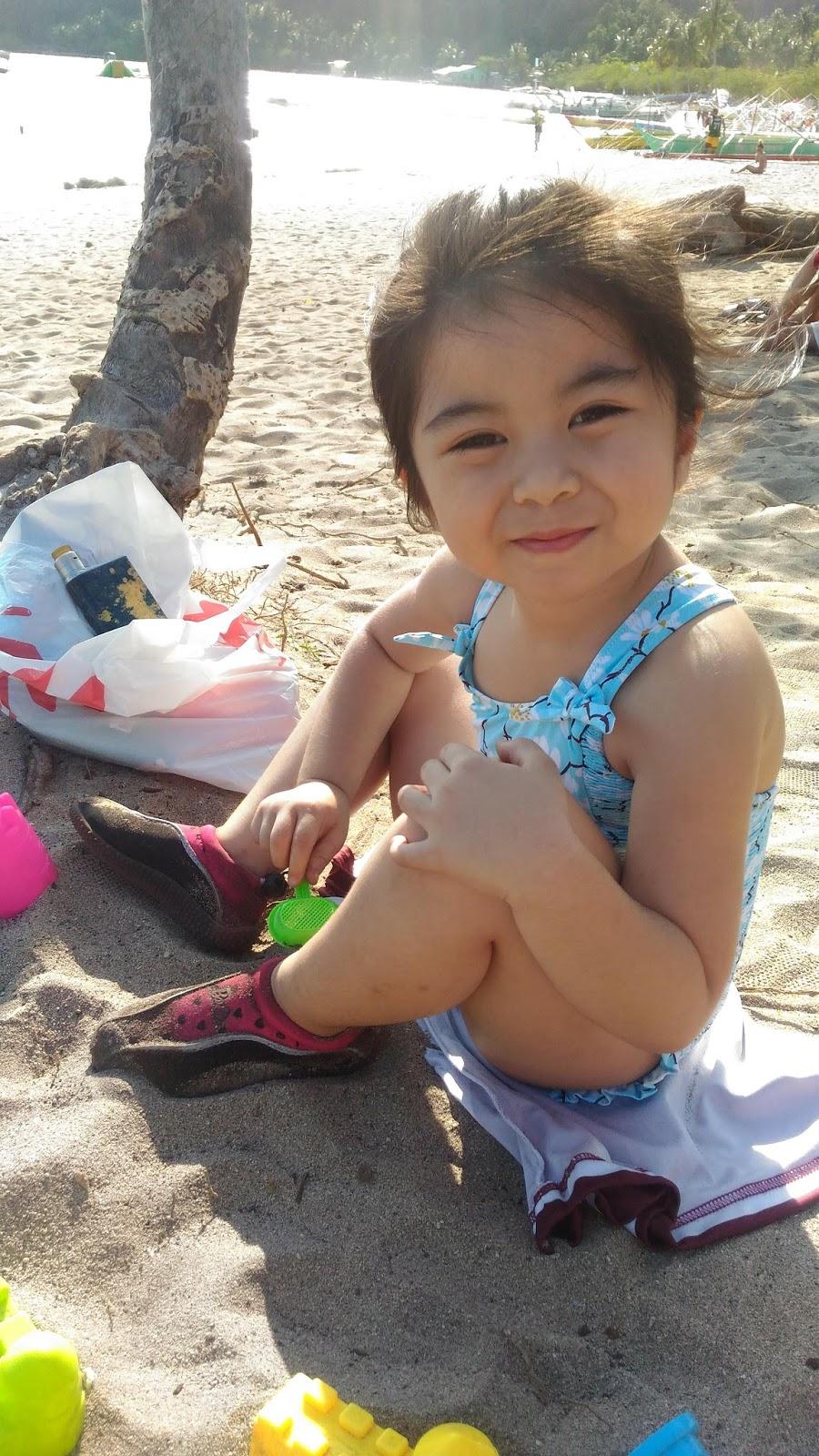 Our pretty daughter - Chloe in Masasa Beach