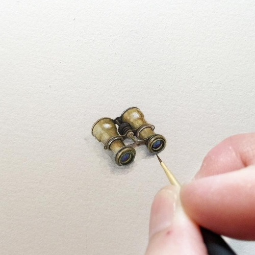 18-Vintage-Binoculars-Karen-Libecap-Star-Wars-&-other-Miniature-Paintings-and-drawings-www-designstack-co