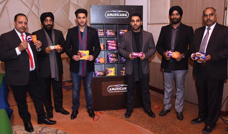Amrinder Singh, Director, Bonn Group of Industries, Pankaj Aggarwal, COO of Bonn Group of Industries, Manjit Singh, CMD of Bonn Group of Industries launching Six New Variants of its iconic range of consumer biscuits