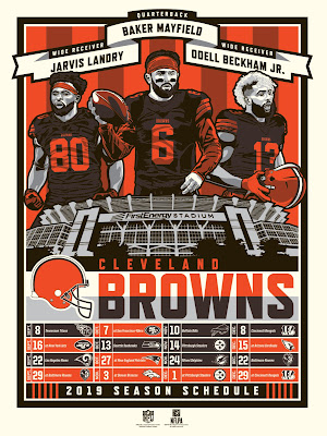 Cleveland Browns 2019 Season NFL Screen Print by Stolitron x Phenom Gallery