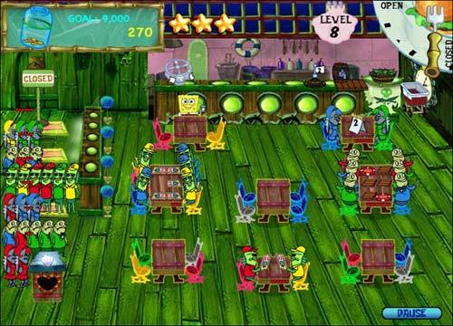 لعبة الاطفال الخفيفة سبونج بوب SpongeBob Diner Dash للكمبيوتر