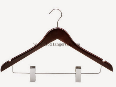 Wooden Combination Hanger WCOH100M Mahogany