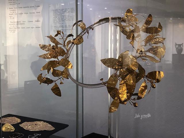 Museo Arqueológico Nacional Sofía corona de laurel