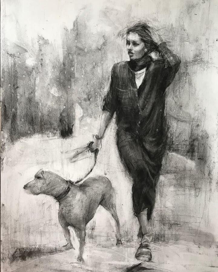 06-A-walk-with-my-dog-Jasna-Jurisic-www-designstack-co