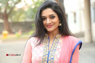 Actress Vimala Raman Stills in Beautiful Pink Salwar Kameez at (ONV) Om Namo Venkatesaya Press Meet  0276.JPG