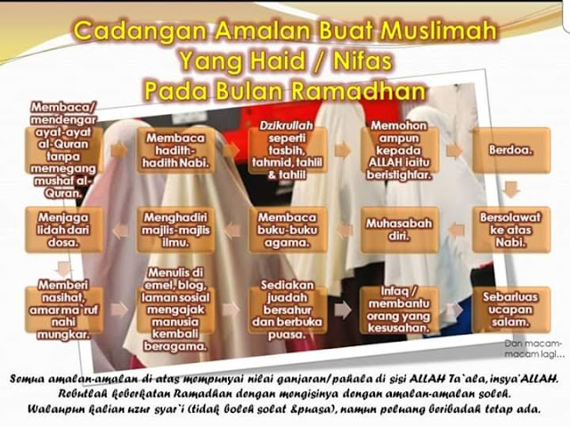 cadangan amalan muslimat yang haid / nifas pada bulan ramadan  Masih Ada Harapan  amalan 10 ramadan terakhir amalan 10 malam terakhir ramadan