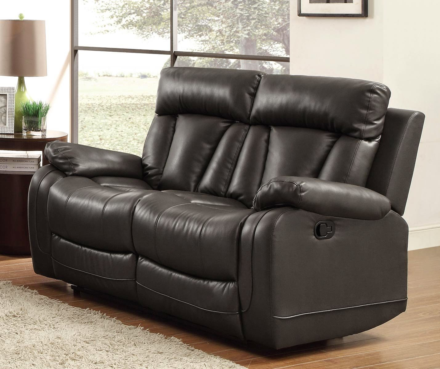 Cheap Recliner Sofas For Sale: Black Leather Reclining