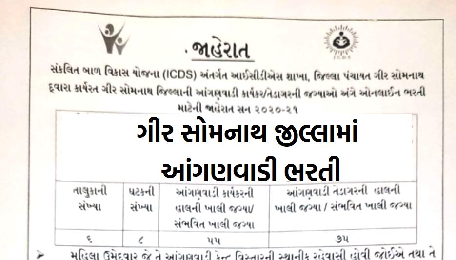 Gir Somnath Anganwadi Bharti Jaherat