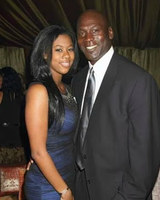 Juanita Vanoy's daughter with her father Jordan