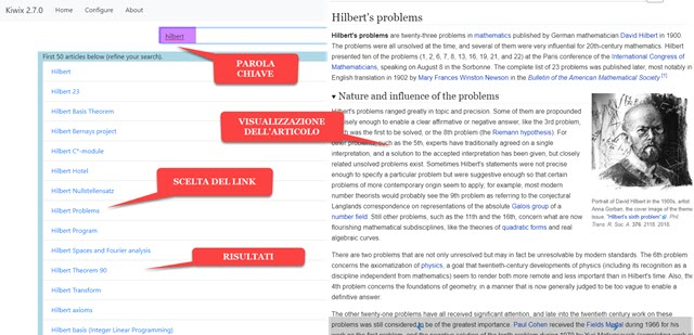 navigazione nei contenuti di wikipedia scaricati con kiwix