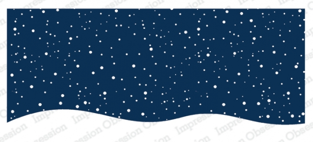 Snowy Night rubber stamp for slimline cards, from Impression Obsession